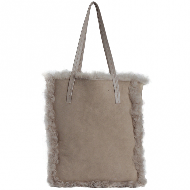 Ashwood Toscana Sheepskin Leather Bag Stone : Avian