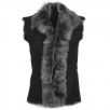 Ashwood Toscana Suede Leather Gilet Black : Kachina