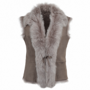 Toscana Suede Leather Gilet Topo : Kachina