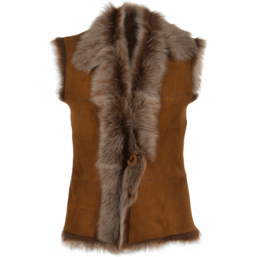 Toscana Suede Leather Gilet Whisky : Kachina