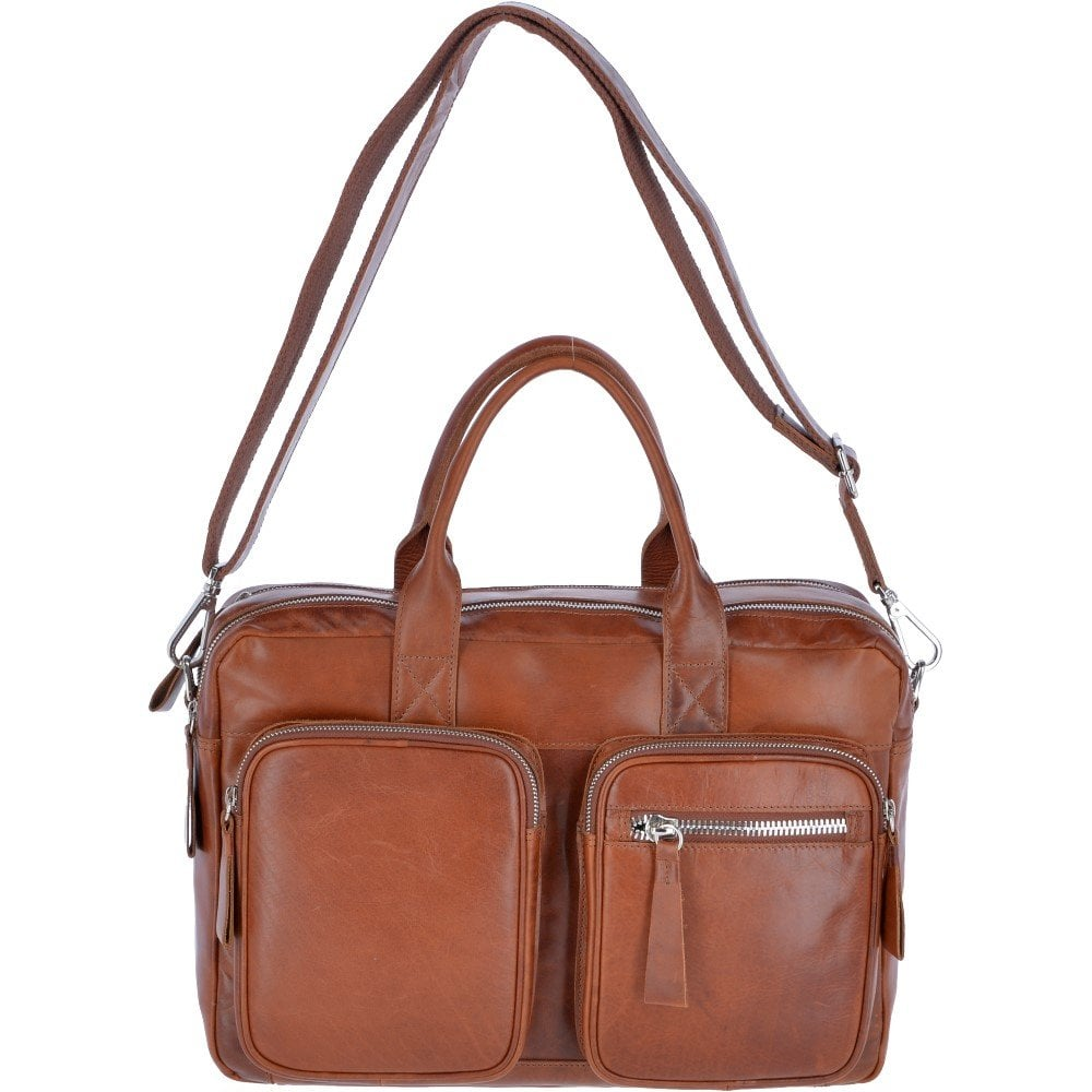 f9f259d6465 ASHWOOD Two Section Oily Hunter Leather Work Bag Tan   1662 ...