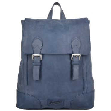 Unisex Full Grain Leather Backpack Blue : Cambridge