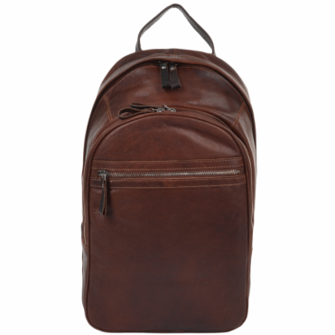 Unisex Leather Backpack Tan/brown : 4555