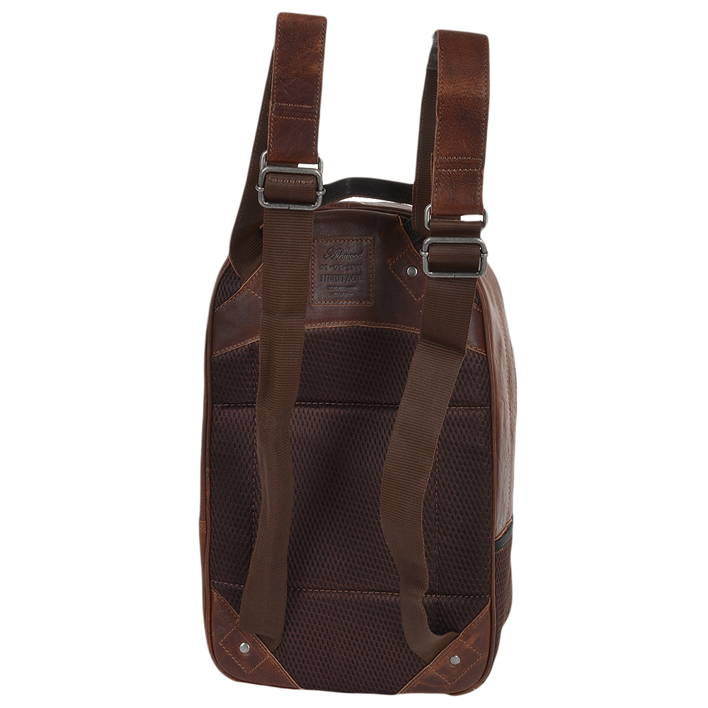 2056dd2e7a8 Unisex Leather Backpack Tan brown   4555
