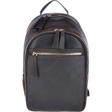 Unisex Leather Oily Hunter Backpack Brown : 1663
