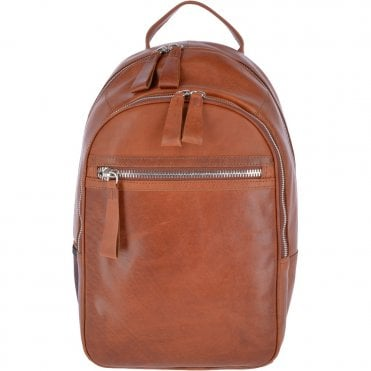 Unisex Leather Oily Hunter Backpack Tan : 1663