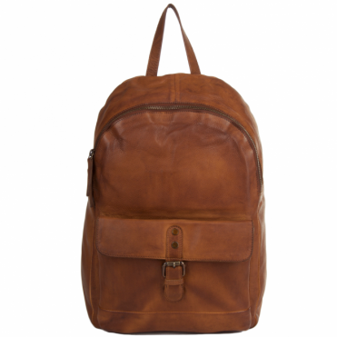 Unisex Leather Vintage Wash Backpack Rust : 1331