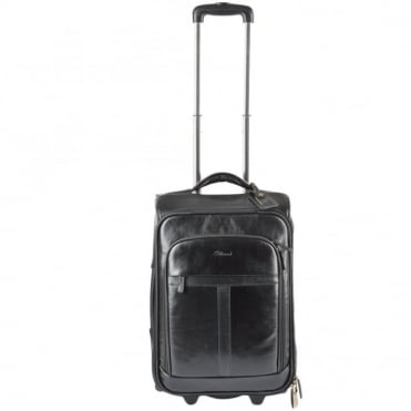 Veg Tanned Leather Luggage Cabin Trolley Black/ari : 89150