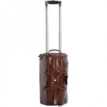 Vegetable Tanned Leather Weekend Travel Holdall Chestnut : 76660