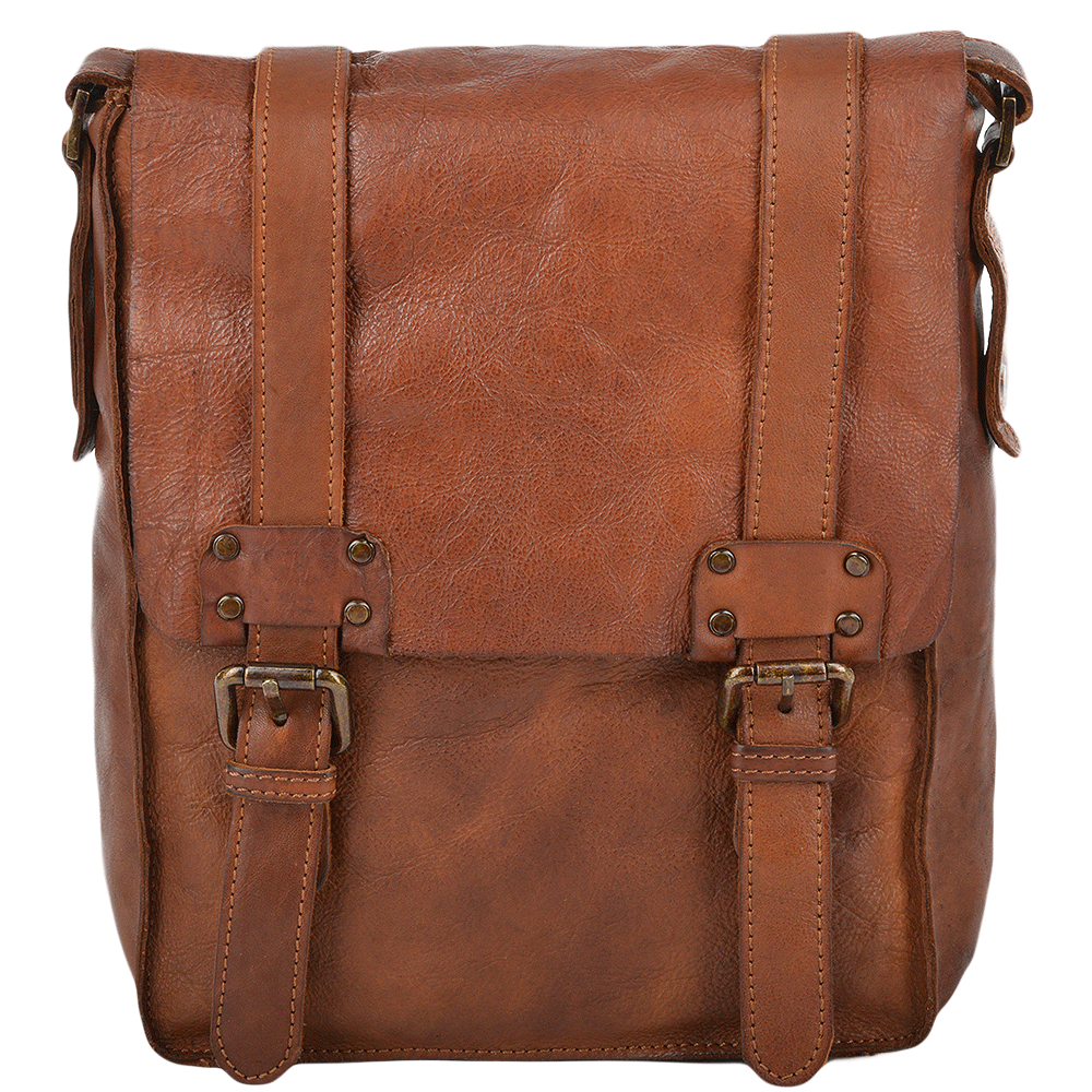 Mens Vintage A4 Messenger Bag Rust   7995  b70655a5a33