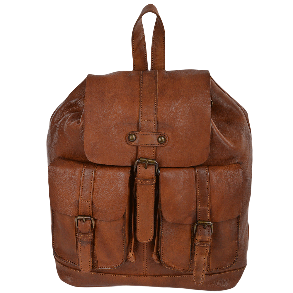 becb44990ad4 Mens Vintage Leather Rucksack Rust   7990