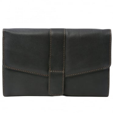 Leather Wallet 1298 Black/waxy