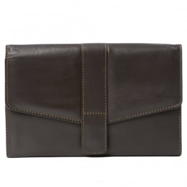 Leather Wallet 1298 Brown/waxy