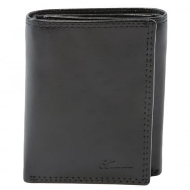 Leather Wallet Black : 1265-vt