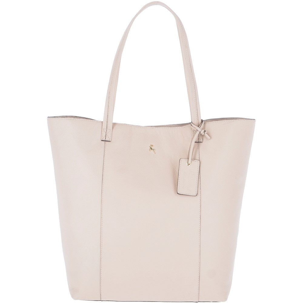 4df974a88c8f Women's Large Leather Shopper Tote Bag Panna Cota Cream : 61911 - Ladies  from Leather Company UK