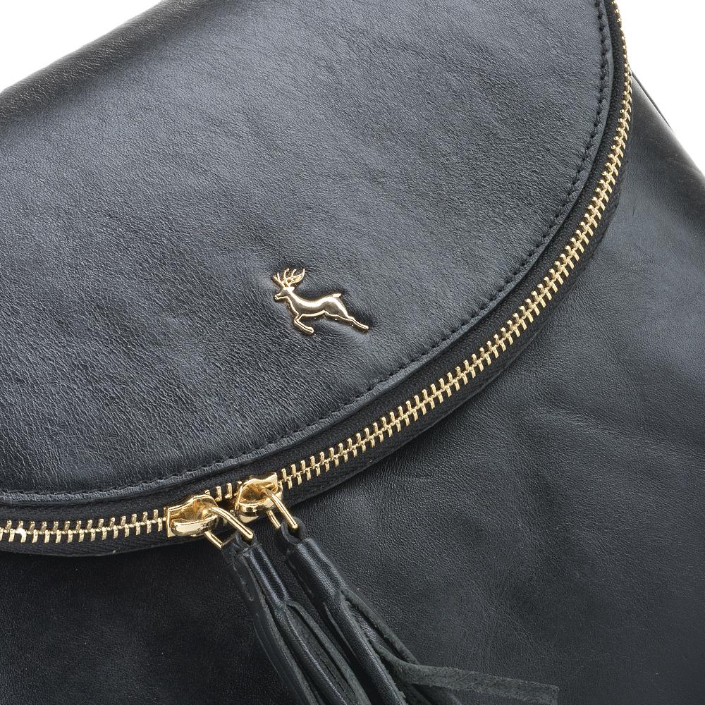 b1007b994b6a Womens Leather Cross Body Bag Black vt   SI 1471
