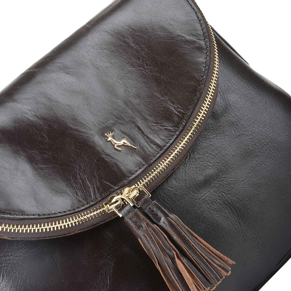b04d3f4ac7a1 Womens Leather Cross Body Bag Brown vt   SI 1471