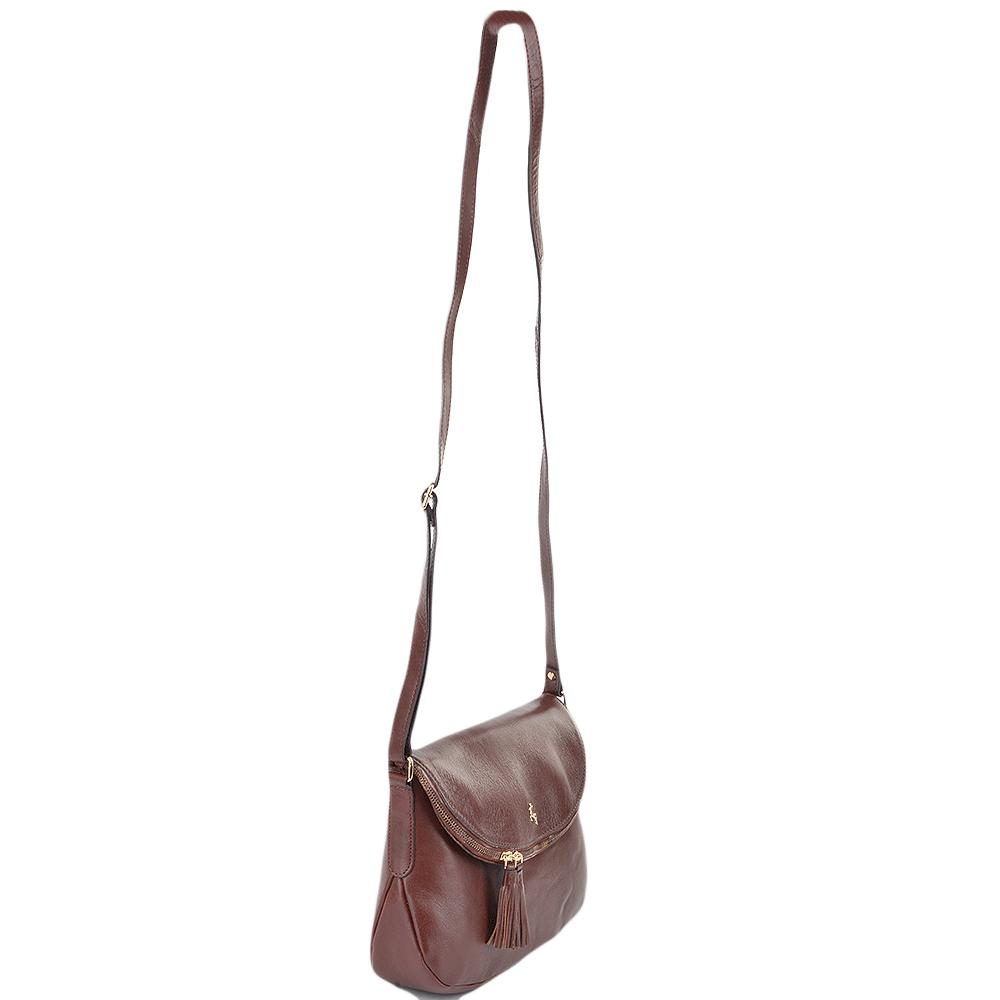 acf523d65165 Womens Leather Cross Body Bag Chestnut vt   SI 1471