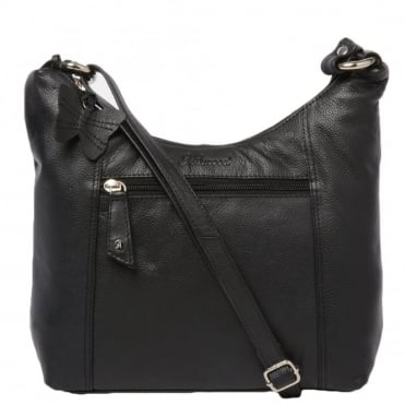 Womens Leather Handbag Black : Ela 1080