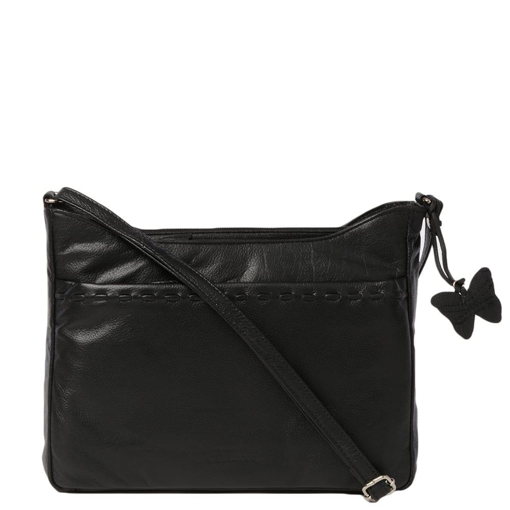Womens Leather Handbag Black Ela 1084 Leather Handbags