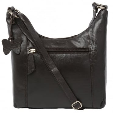 Womens Leather Handbag Choc.brn : Ela 1080