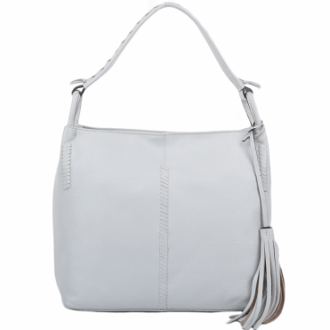 Womens Leather Hobo Shoulder Bag Ice : 61634