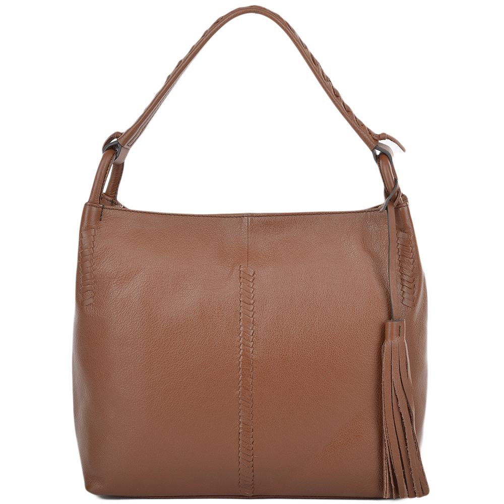 706b1702e4e1 Womens Leather Hobo Shoulder Bag Tan   61634