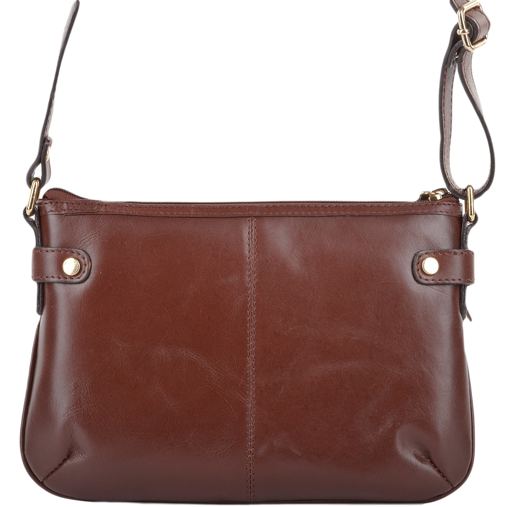 Womens Leather Small Cross Body Bag Chestnut Vt Si 1331