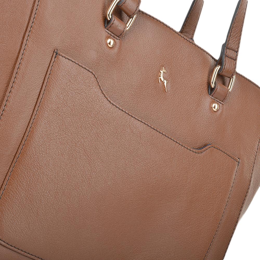 cc0734e71b Womens Medium Leather City Shopper Bag Tan   61619