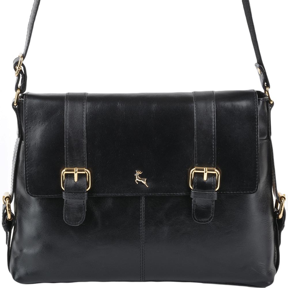 b65851ef1 Womens Medium Leather Satchel Workbag Black/vt : ELA 953