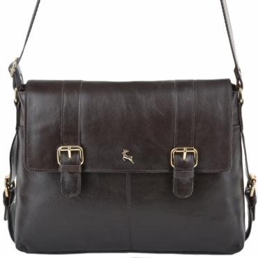 6d813aeea2 Womens Medium Leather Satchel Workbag Brown vt   ELA 953