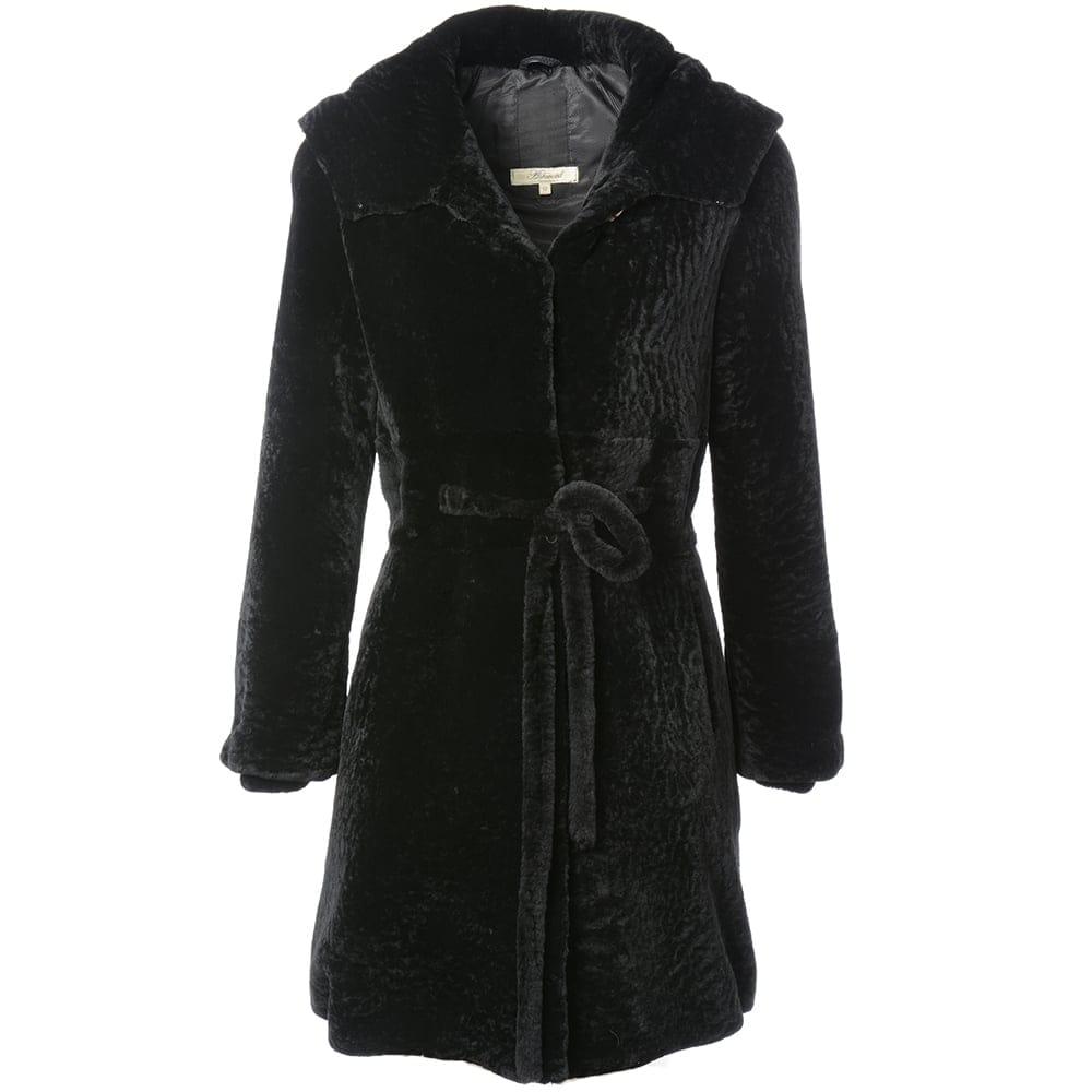 Womens Sheepskin Coat Black Kb 540 Sheepskin Coats