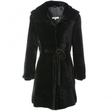 Womens Sheepskin Coat Black : Kb-540
