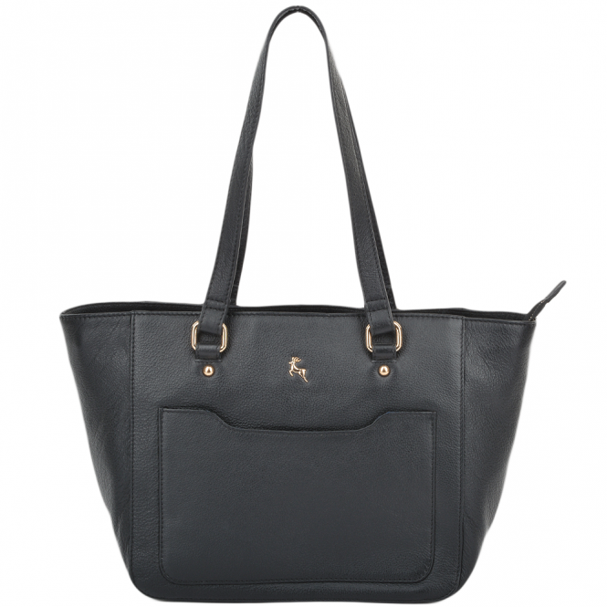 Ashwood Womens Small Leather City Shopper Bag Black : 61513