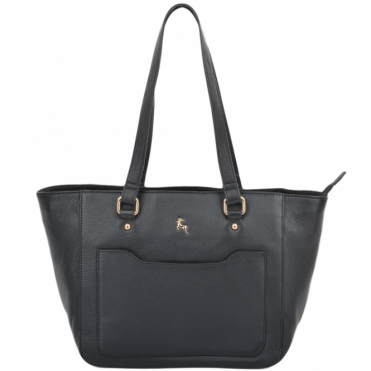 Womens Small Leather City Shopper Bag Black : 61513