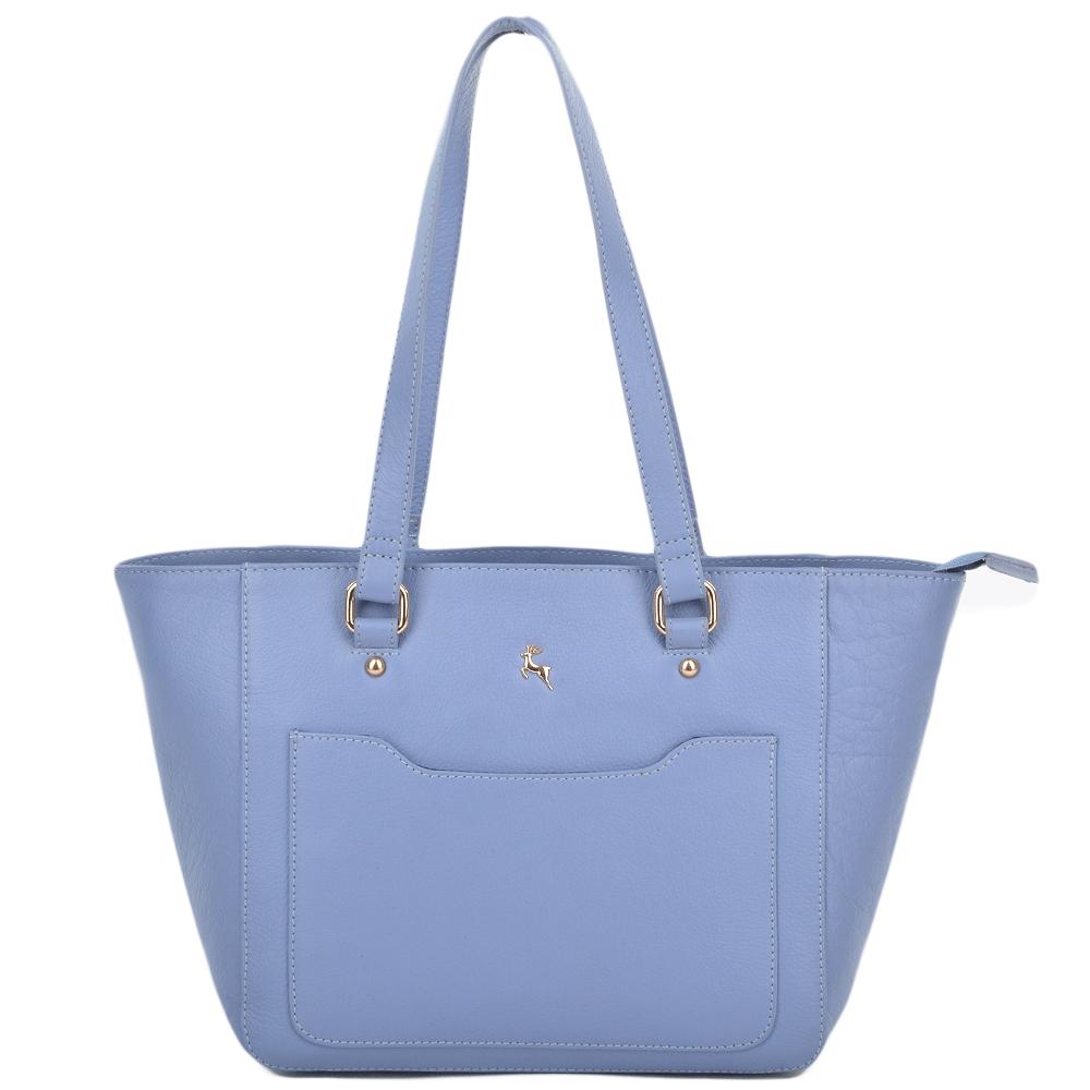 Womens Small Leather City Shopper Bag Corn blue   61513  68c18b1e96
