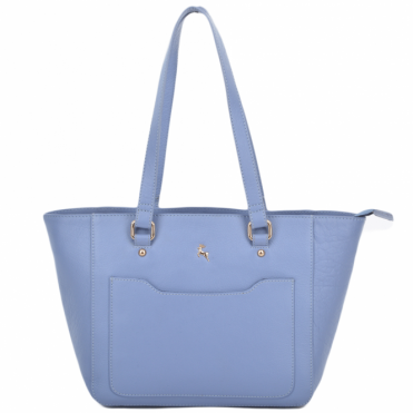 Womens Small Leather City Shopper Bag Corn/blue : 61513