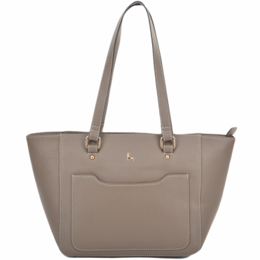 Womens Small Leather City Shopper Bag Mushroom : 61513