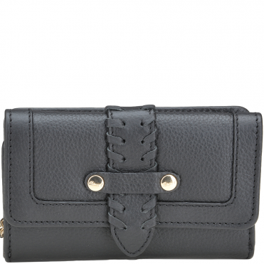 Women's Small Leather Purse Black : SLG-30643