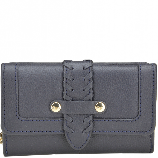 Ashwood Women's Small Leather Purse Deep Blue : SLG-30643