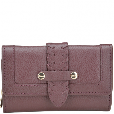 Women's Small Leather Purse Deep Bordeaux: SLG-30643