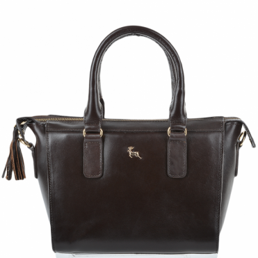 Womens Small Veg Tanned Leather Tote Brown/vt : SI 1344