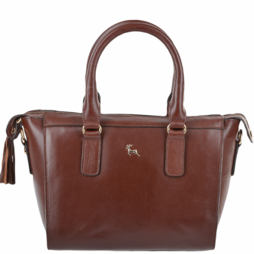 Womens Small Veg Tanned Leather Tote Chestnut/vt : SI 1344