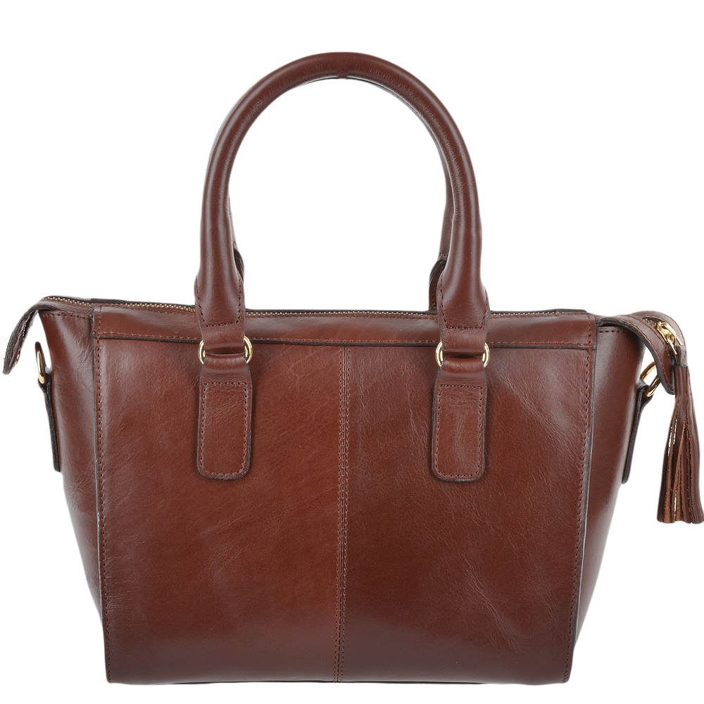Womens Small Veg Tanned Leather Tote Chestnut Vt Si 1344