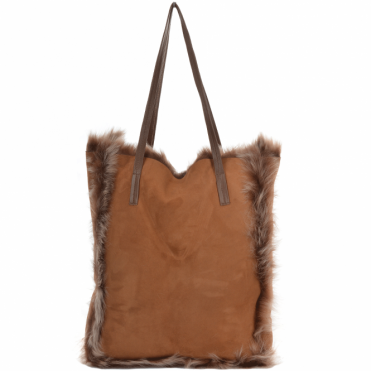 80c7543032 Womens Toscana Sheepskin Leather Bag Whisky brissa   Avian