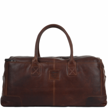 X-Large Leather Holdall Tan/brown : 4556