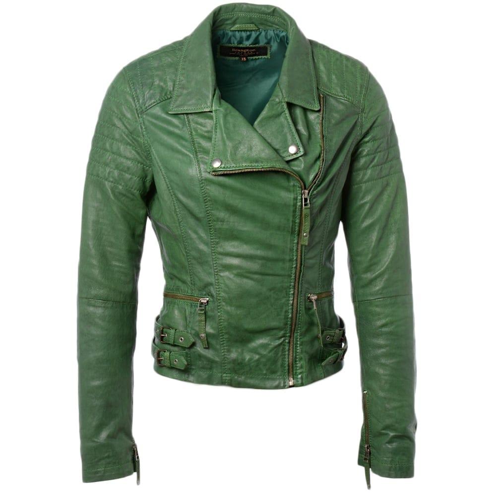 Womens Leather Jacket Green Medusa Women S Leather Jackets