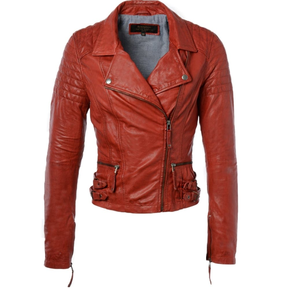 9f101388811b Womens Leather Jacket Red : Medusa | Women's Leather Jackets
