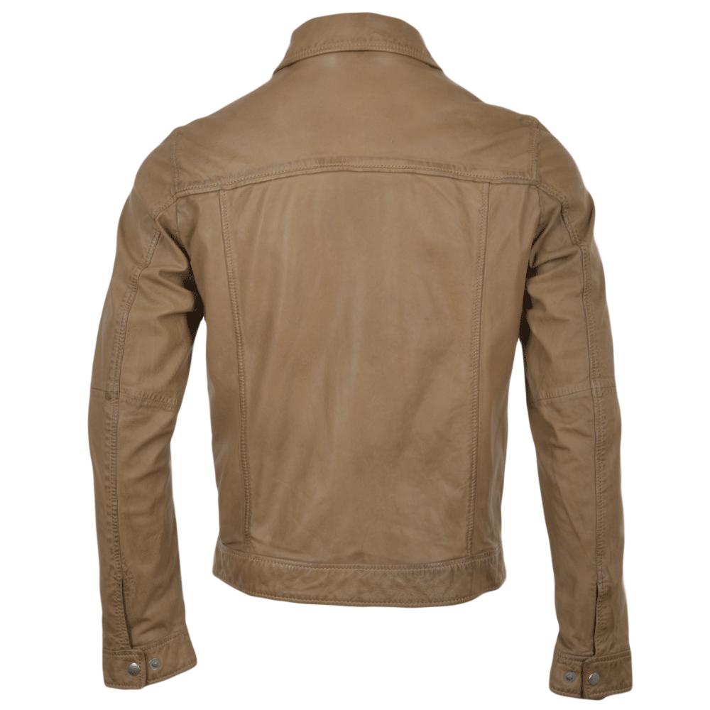 Leather jacket uk mens -  Brampton Leather Denim Style Jacket Camel Saraha