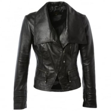 Leather Jacket Black : Adele
